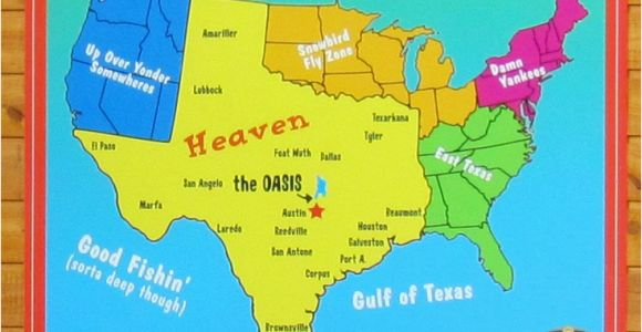 Map Of Center Texas A Texan S Map Of the United States Texas