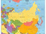 Map Of Central Europe and northern Eurasia Political Map Of Russia and northern Eurasia