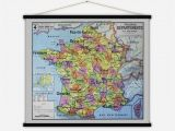Map Of Cities In France France Departements Vintage Map