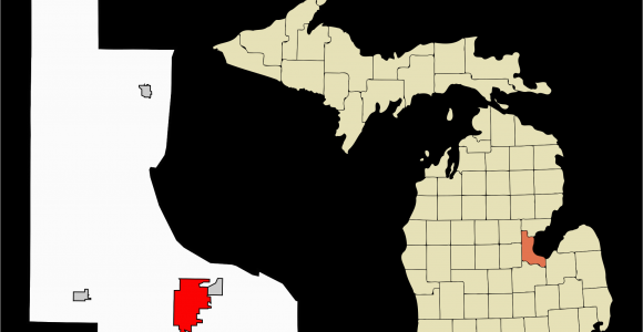 Map Of Cities In Michigan Datei Bay County Michigan Incorporated and Unincorporated areas Bay