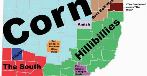 Map Of Cities In Ohio 8 Maps Of Ohio that are Just too Perfect and Hilarious Ohio Day