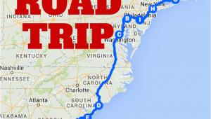 Map Of Coastal Georgia the Best Ever East Coast Road Trip Itinerary Road Trip Ideas