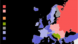 Map Of Cold War Europe Political Situation In Europe During the Cold War Mapmania