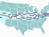 Map Of Colorado and Utah Possible Route to Go Through West Virginia Kentucky Missouri