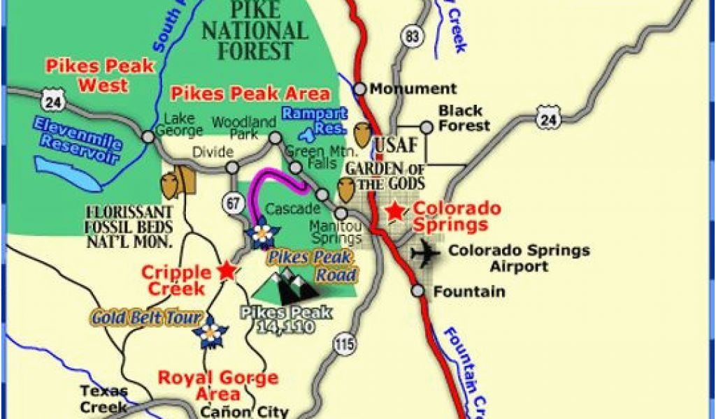 Map Of Colorado tourist attractions Pagosa Springs Co Map New ...
