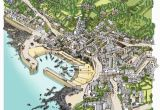 Map Of Cornwall England with towns Pictorial Map Of Mousehole A Small Cornish town with A
