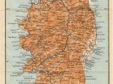 Map Of Corsica France 1914 Corsica Antique Map Corse Corsega France