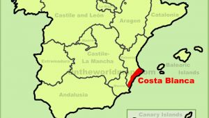 Map Of Costa Blanca Spain Costa Blanca Maps Spain Maps Of Costa Blanca