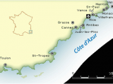 Map Of Cote D Azur France French Riviera Map and Guide
