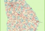 Map Of Counties In Georgia with Cities Georgia Road Map with Cities and towns