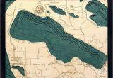 Map Of Crystal Lake Michigan Bathymetric Maps Michigan Scrimshaw Gallery