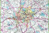 Map Of Dallas Texas and Surrounding areas Dallas area Road Map