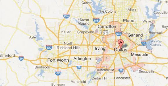Map Of Dallas Texas and Surrounding areas Dallas fort Worth Map tour Texas