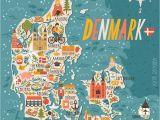 Map Of Denmark and Europe Denmark Map Denmark In 2019 Denmark Map Travel