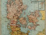 Map Of Denmark In Europe 1921 Map Of Denmark with Insets Of Iceland Faroe islands