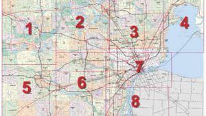 Map Of Detroit Michigan area Mdot Detroit Maps