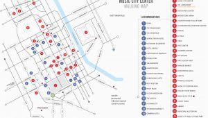 Map Of Downtown Nashville Tennessee Walking Map Nashvillemusiccitycenter Com