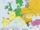 Map Of East and West Europe Languages Of Europe Classification by Linguistic Family