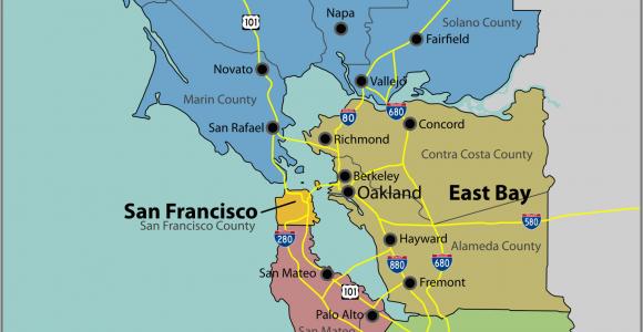 Map Of East Bay area California San Francisco Bay area Wikipedia