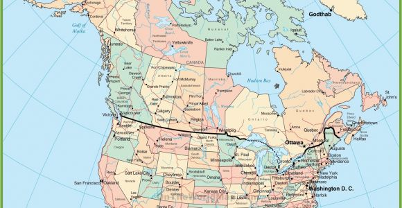 Map Of East Coast Usa and Canada Usa and Canada Map