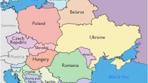 Map Of Eastern and Western Europe Maps Of Eastern European Countries