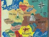Map Of Eastern Europ Illustrated Map Of Eastern Europe Shows Lives Of Reason