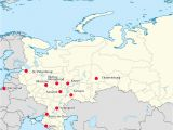 Map Of Eastern Europe and Russia World Cup 2018 Russia Map Of Cities with Venues Map Of