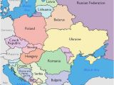 Map Of Eastern Europe with Capitals Maps Of Eastern European Countries