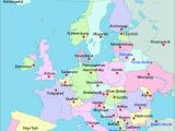 Map Of Eastern Europe with Major Cities 25 Categorical Map Of Eastern Europe and Capitals