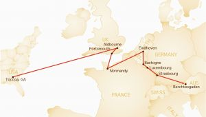 Map Of Easy Company Through Europe Band Of Brothers tour Wwii tours by Stephen Ambrose