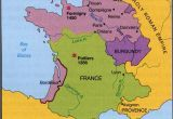 Map Of England and France 100 Years War Map History Britain Plantagenet 1154
