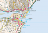Map Of England Beaches Explore Shaldon From Teignmouth Print Walk south West