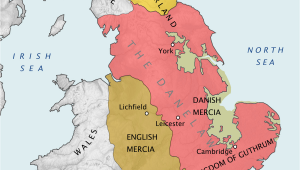 Map Of England before 1066 Danelaw Wikipedia