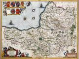 Map Of England In 1600 400 Year Old Map Of somerset Circa 1648 Mapmania Map
