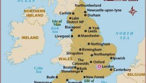 Map Of England Main Cities Map Of England