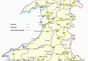 Map Of England Roads Trunk Roads In Wales Wikipedia