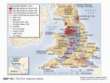 Map Of England Showing Leicester the First Industrial Revolution Map Bing Images