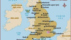 Map Of England Showing Stonehenge Map Of England