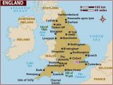 Map Of England Showing towns Map Of England
