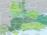 Map Of England with Counties and Cities Map Of south East England Visit south East England
