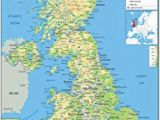 Map Of England with Counties and Cities United Kingdom Uk Road Wall Map Clearly Shows Motorways Major