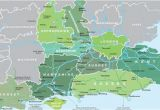 Map Of England with County Borders Map Of south East England Visit south East England