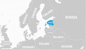 Map Of Estonia In Europe What Continent is Estonia In Worldatlas Com