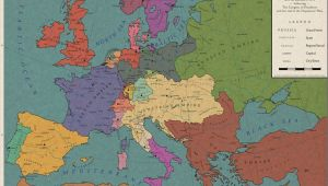 Map Of Europe 1550 Europe 1813 the Congress Of Frankfurt by Saluslibertatis On