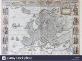 Map Of Europe 17th Century Historical Map Of Europe Stock Photos Historical Map Of