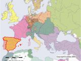 Map Of Europe 1800 Spain On the Map Of Europe