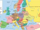 Map Of Europe 1914 with Capitals Europe Countries Capitals World Maps