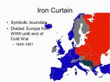 Map Of Europe 1945 Iron Curtain origins Of the Cold War East V West Wwii Ends 1945 Two