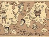 Map Of Europe 1980 the World According to Ronald Reagan 1987 My Favorite