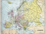 Map Of Europe 19th Century Fotografia Map Of 19th Century Europe Kup Na Posters Pl